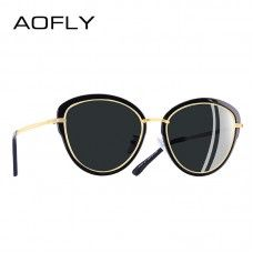 4ba6dd5b10 AOFLY BRAND DESIGN Fashion 2018 Polarized Sunglasses Women Cat Eye Glasses  Vintage Eyewear Shades UV400 A107