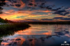 https://flic.kr/p/damP6i | Sunset over Broad Creek on Hilton Head Island by Jim Crotty