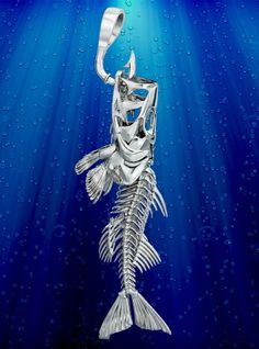 Erik LOVES this!! Skeleton Fish Jewelry: Snook