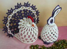 Material: On. Sonata - cotton, viscose - / 294 m Crochet: and Easter Crochet Patterns, Crochet Birds, Thread Crochet, Crochet Animals, Crochet Doilies, Knit Patterns, Crochet Christmas Trees, Christmas Angels, Christmas Crafts