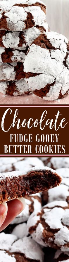 Chocolate Fudge Gooey Butter Cookies (from scratch!) ~ Melt-in-your-mouth Chocolate Gooey Butter Cookies all fudgy and at their finest from scratch. Buttery, light and tender-crumbed, sweetened just right and full of deep chocolate flavor. You just can't have one! Included is a scrumptious and irresistible gluten free variation. Everyone will love these special chocolate cookies—especially chocolate lovers. They taste just like chocolate cheesecake and melt in the mouth like a chocolate…