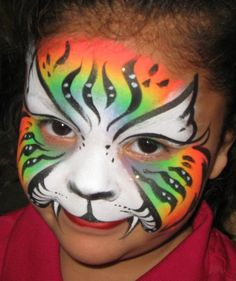 UV Tiger face painting Orlando, Fl