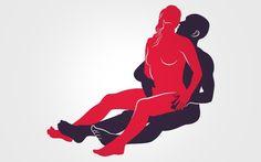 Encaixadinha sentada: ela senta no colo dele apoiando as costas em seu tronco.