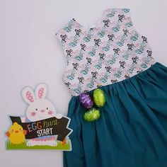 Madeleine Dress | Sizes 2-8 | Woodland Bunnies Fairy Skirt, Terry Towel, Handmade Dresses, Snap Backs, Teal Colors, Handmade Baby, Fitted Bodice, Baby Bibs, A Line Skirts