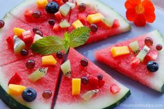 Watermelon pizza by