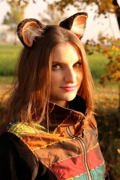 MADE TO ORDER  nekomimi dark brown soft fur ears headband