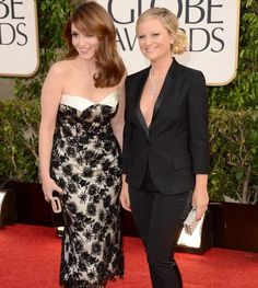 Tina Fey and Amy Poehler #GoldenGlobes #redcarpet