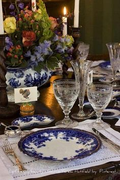 Blue and white for Thanksgivng.