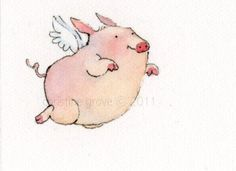 95 Best when pigs fly images in 2019 | Flying pig, Pig art