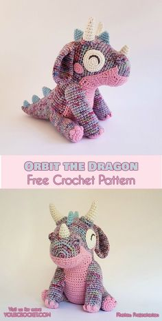 Orbit the Dragon Free Crochet Pattern #freecrochetpatterns #crochettoys #amigurumipattern #crochetdragon