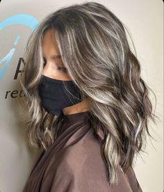 Ash Hair, Brown Blonde Hair, Brunette Hair, Brown Hair Long Bob, Medium Ash Brown Hair, Dark Ash Brown Hair, Dark To Light Hair, Gray Hair Highlights, Hair Color Balayage