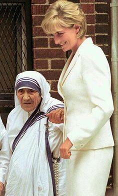 Two Icredible Women. Mother Theresa & Princess Diana
