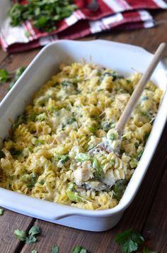 Baked Broccoli Chicken Alfredo. Super easy and with so much cheesy goodness!