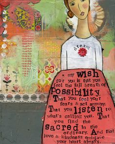 I LOVE Kellie Rae Roberts' Decoupage art style.  So unique and inspiring.