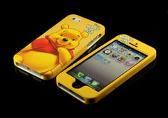 for Apple iPhone 5 5S 5th 5G Winnie the Pooh Dual Back   Front Case cover Pouch