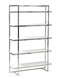 Gilbert 5 Shelf Unit (White) by Euro Style at Gilt