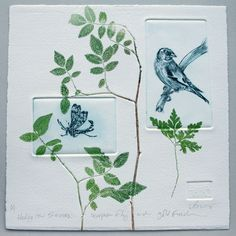 Hedgerow animals & plants original square artwork on Etsy, $129.18 AUD