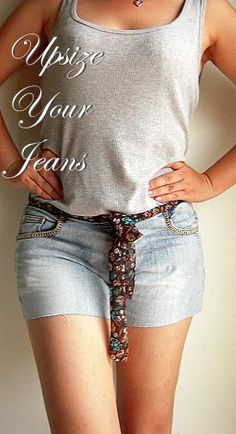 How to stretch Jeans at the Waist! Easy n Low Sew!