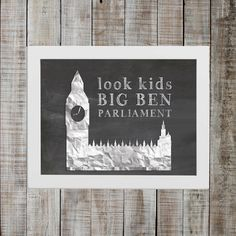 National Lampoon's European Vacation Pop Culture Print - 'look kids big ben parliament'