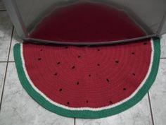 Tapete Melancia - Watermelon Rug - Crochet