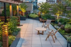 gartengestaltung ideen außenmöbel pflanzen gartenbeleuchtung