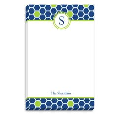 Mosaic Flowers Initial Notepads