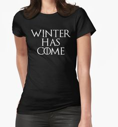 Winter Has Come Night Version - Game of Thrones by typogracat