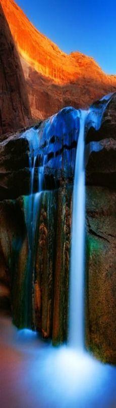 amazing waterfall -- Gates of Eden - Coyote Gulch, Escalante, Utah