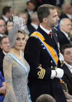 Dutch inauguration: The fashion of the European royal ladies -Princess Letizia & Prince Felipe of Spain