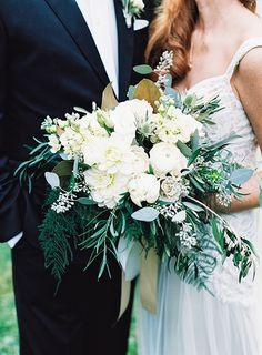 Elegant Real Wedding in North Carolina - #elegant #green #natural