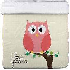 Found it at Wayfair - OneBellaCasa.com I Love You Owl Duvet Cover - Size: Full / Queenhttp://www.wayfair.com/OneBellaCasa.com-I-Love-You-Owl-Duvet-Cover-HMW4134.html?refid=SBP.rBAZEVM24DZ1wSffjtBmAgAAAAAAAAAAAAAAAAAAAAA