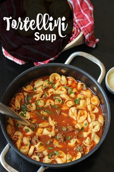 Tortellini Soup with Sausage and Vegetables | Good Cheap Eats - Warm up the night with this comforting Tortellini Soup with Sausage and Vegetables. It comes together quickly and easily serves a crowd.