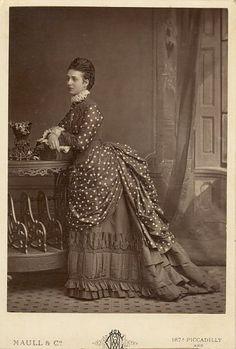 Princess Alexandra of Denmark. Victorian Women, Victorian Era, Victorian Fashion, Victorian Dresses, Vintage Photographs, Vintage Photos, Princess Alexandra Of Denmark, 1870s Fashion, 19th Century Fashion