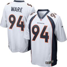 Demarcus Ware 94 Player Men's Short Sleeve T-Shirt 2016-17 Season Game Jerseys White Size L(44) -- Awesome products selected by Anna Churchill