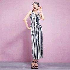Stripe, Prints, Suit, Three Dimensional Decoration