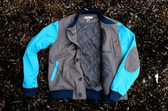 "Kith X Shades of Grey Lined Varsity Jacket ""Salmon Sole"" 