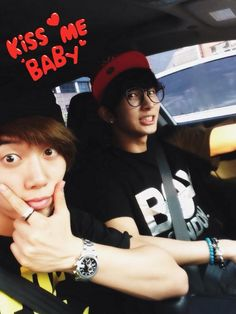 Hoon's twitter: 'After Goong practice!! On my way to the music director!! Kiseopee driving because Hoon is tired~~>_< '
