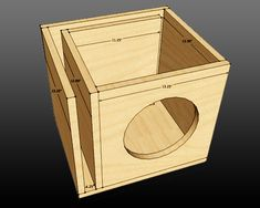 "Image result for ported single 10"" woofer box"