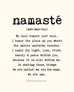mrsjonhamm:  Namaste. My soul honors your soul.