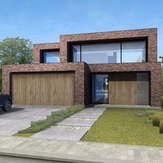 Minimalist Architecture, Modern Architecture House, Architecture Design, House Main Gates Design, House Front Design, Modern Brick House, Modern House Design, Dream House Exterior, Facade House