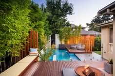 Viewbank Project - Contemporary - Pool - Melbourne - Apex landscapes. Love the partitioning