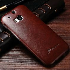 DESIGNER EMBOSSED VINTAGE HIGH QUALITY PU LEATHER FLIP CASE COVER FOR HTC ONE M8 Brown