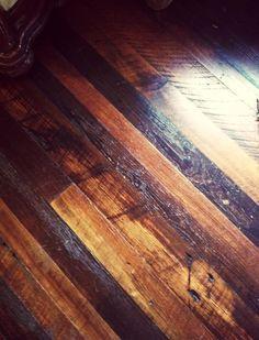 Reclaimed wood floors! Beautiful! #LiquidGoldSalvagedWood