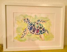 Aguarela várias tecnicas - Tartaruga Painting, Tortoise Turtle, Watercolour, Finding Nemo, Painting Art, Paintings, Painted Canvas, Drawings