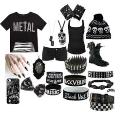 """""""B&W"""" by emo-tomboy on Polyvore"""