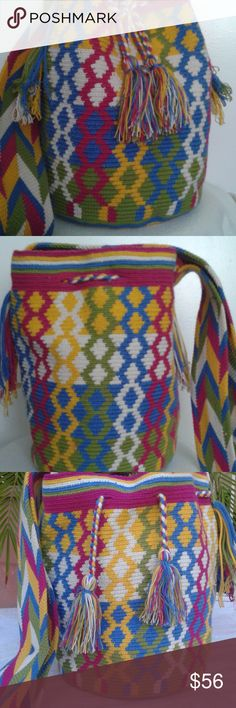 wayuu tribe bags for summer  casual NEW New with tags: A brand-new, unused, and unworn item (including handmade items) in the original packaging (such as the original box or bag) and/or with the original tags attached.  See all condition definitions  APPROX MEASURES:  - Height: 10 in - 25 cm  - Width: 9 in - 22.5 cm  - Depth: 9 in - 22.5 cm  - Strap Drop: 21 in - 52.5 cm  Style:Shoulder Bag  Material: Cotton  Color:  Multicoloured  Country/Region of Manufacture:  Colombia Wayuu Tribe Bags…