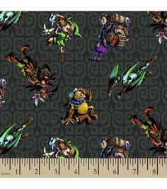 Nintendo Zelda and Friends Cotton Fabric