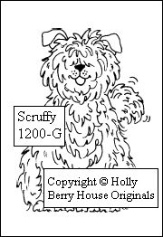 Dogs - rubber stamp, Scruffy is a sweet dog stamp and makes a card extra doggy special!!! Get Scruffy at Holly Berry House Originals www.hollyberryhouse.com