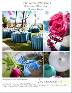 Fuschia & Teal wedding