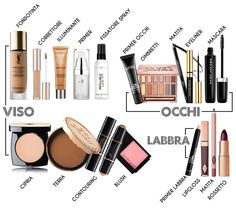#Prodotti per realizzare un valido #trucco: linee #guida. Perfect #makeup overview. #products #beauty #bellezza Beauty Advice, Beauty Hacks, Makeup Tips, Eye Makeup, Shellac Colors, Eyeliner, Eyeshadow, Makeup Is Life, Braut Make-up